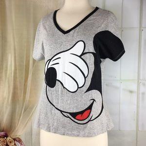 Disney Tops - Disney Gray Mickey Mouse T-shirt